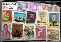 BOLIVIA 300 DIFFERENT STAMPS COLLECTION MNH/USED LOT SELECTED PACKET