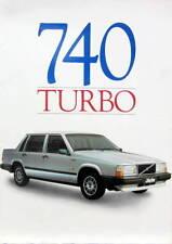 1983 VOLVO 740 TURBO ET GLE DOSSIER DE PRESSE