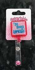 Retractable Clip ID Employee Security Pass photo Card  pull out Badge Holder K