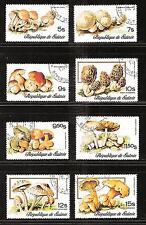 GUINEA # 724-728, C131-133 Used MUSHROOMS. NATURE (CTO)