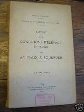 conditions élevage des animaux à fourrure / d'aigneaux