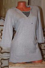 S100 MAINE Debenhams soft grey elasticated  long jumper sweater top size 14