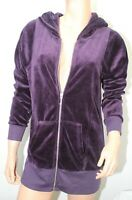 Juicy Couture Dressage Velour Purple Athleisure Track Jacket Medium Long New
