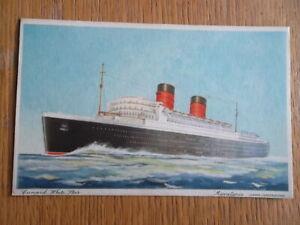 Cunard White Star 'MAURETANIA' (under Construction) Postcard - Cunard Liner