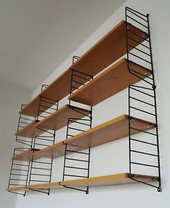 Original String Shelf Approx. 1,8 x 1,0 M Bookcase Ash Wood Nisse Strinning Rgr