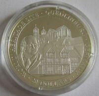 Liberia 20 Dollars 2001 UNESCO Welterbe Quedlinburg Silber