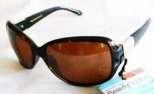 Womans Petite Sunglasses Foster Grant Brown & Gold Beauty Solutions 100% UVA,UVB