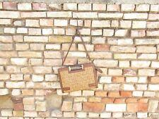 Art Déco Damen Handtasche mit Leder & Wiener Geflecht, Roeckl, original Vintage