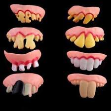 Tricky Funny Rubber Fake Halloween Costume False Teeth Dentures Funny Goofy LS12
