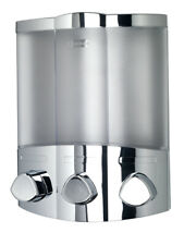Croydex Euro Trio Chrome Soap Shampoo Triple Bathroom Shower Dispenser