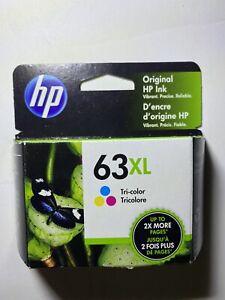HP 63XL GENUINE Tri-color Ink Cartridge F6U63AN - OEM Exp AUG 2022