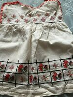 Beautiful Vintage Hand-Woven And Hand-Embroidered Child's Cotton Dress