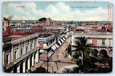 Postcard Mexico Veracruz Main Square & Main Street VtgView CityDescription C2