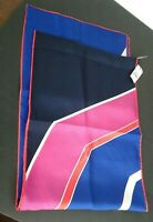 """Talbots Silk Bright Multicolor Stripe Scarf Blue  New with Tags!  68"""" x 11"""""""