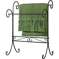 Traditional Iron Scroll Blanket Quilt Stand, Black, by Collections Etc