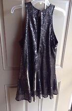 Free People Sequined Little Black Dress Black, Small NWOT