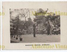 OLD CHINESE PHOTO MANDARIN GARDEN SHANGHAI CHINA VINTAGE 1930S