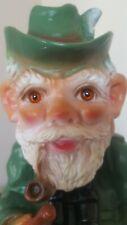 "Rare Vintage Garden Gnome with Rifle and Umbrella 11 1/2"" Zeho?"