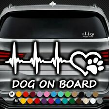A165# Aufkleber Dog on Board Tour Pfote Pfoten Hundepfoten Hund Auto Sticker Paw