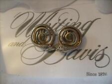 Vintage Whiting & Davis Gold Tone Snake Earrings