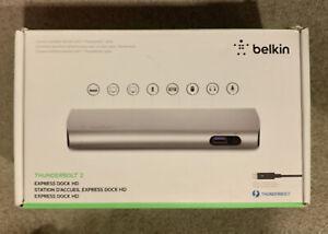 Belkin Thunderbolt 2 Express Dock HD NEW F4U085 4K for Apple Mac