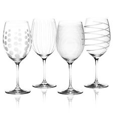 Set of 4 Mikasa Cheers 685ml Large Wine Crystal Glasses Red White Gin Christmas
