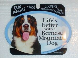 Bernese Mountain Dog LIFES BETTER Fridge Magnet