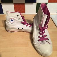 Converse All Star Chuck Taylor Canvas Hi Top UK 4 EU 36.5 White/Pink