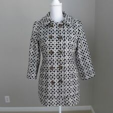 Juicy Couture Black & White Geometric Coat Size L