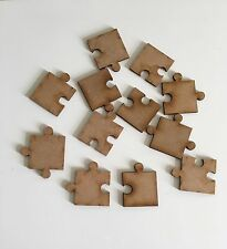 Jigsaw Puzzle MDF Shapes Approx 30mm x12 Scrap Book Wedding Table Confetti
