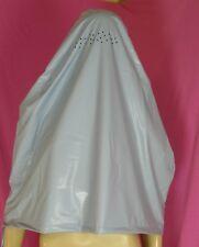 Regen Burka Niqap Maske babyblau PVC Neu