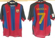 BARCELONA FC 2003/2004 Home FOOTBALL SHIRT  JERSEY Saviola SPAIN