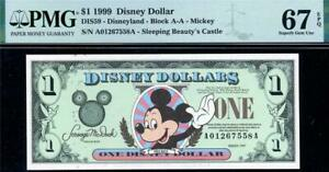 1999 $1 Disney Dollar-Mickey (ONLY 1 Finer) PMG SUPERB GEM UNC 67EPQ