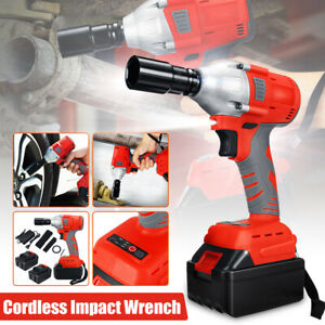 350Nm Impact Wrench Powerful Combo Kits 128VF & 2Pcs Rechargeable Li-Ion  P