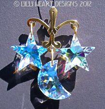 m/w Swarovski Crystal Aurora MOON + STARS Mobile Suncatcher Lilli Heart Designs