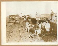 WWI Work on Railway Being Done by German Prisoners 8x6 Original Press Photo