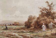 Henry H Parker Signed Original Watercolour Landscape Painting Christies Label