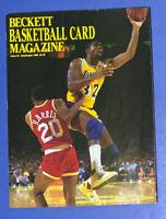 🔥1990 Beckett Basketball Magazine ISSUE #3 Magic Johnson HOF USED Lakers HTF