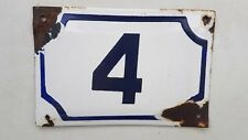vintage PRE ISRAEL STATE PALESTINE enamel porcelain number 4 house sign # 4