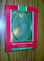 """Hallmark Keepsake Ornament - """"From Our Home to Yours"""" Acrylic 1989 - Christmas"""