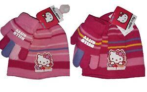 Hello Kitty bonnet et gants fille taille unique Neuf avec étiquette
