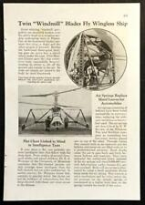 Gyroplane Laboratoire 1936 early Helicopter article Maurice Claisse pilot