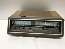 GE General Electric 7-4665A Blue Light Alarm Clock Radio AM FM