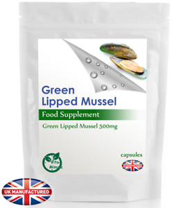 Green Lipped Mussel Extract Capsules 500mg, Healthy Joints for Human & Dogs, UK