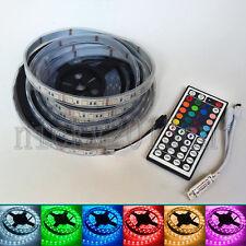 5M 5050 RGB LED Strip Light 300LEDs Tube IP67 Waterproof + 44key Remote Controll