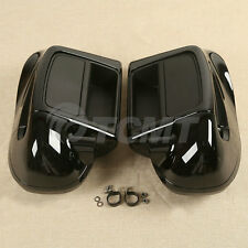 Black Lower Vented Leg Fairing Glove Box Fit For Harley Davidson Touring 2014-18