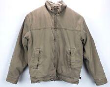 WOOLRICH Canvas Barn Chore Coat Jacket Fleece Lined Men's Large L Dark Wheat