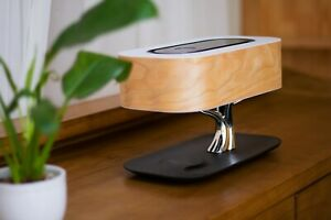 Bedside Lamp -Bluetooth Speaker and Wireless Charger Sleep Mode Stepless Dimming