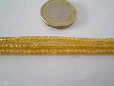 1 filo di zirconi color giallo citrino forati e sfaccettati di 3,2x2,5 mm  37 cm