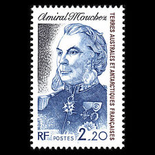 TAAF 1987 -  Admiral Mouchez Military Famous People - Sc 129 MNH